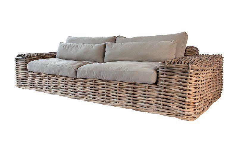 Sofa Couch Polstermobel Lounge Liege Natur Rattan Tagesbett Relaxliege Sessel Liegeinsel Loungeliege In 2020 Seater Sofa 3 Seater Sofa Modular Sofa