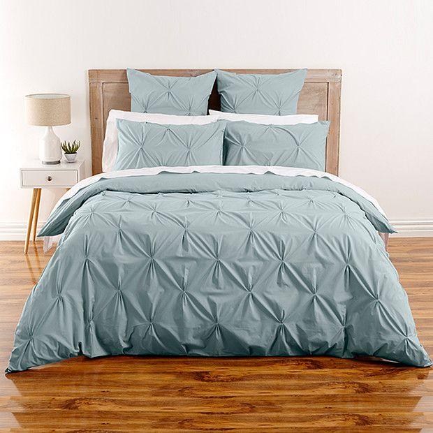 Pine Bedroom Sets Duck Egg Colour Bedroom Top 10 Bedroom Paint Colors Guest Bedroom Decorating Ideas: Kissing Pleat Quilt Cover Set - Duck Egg