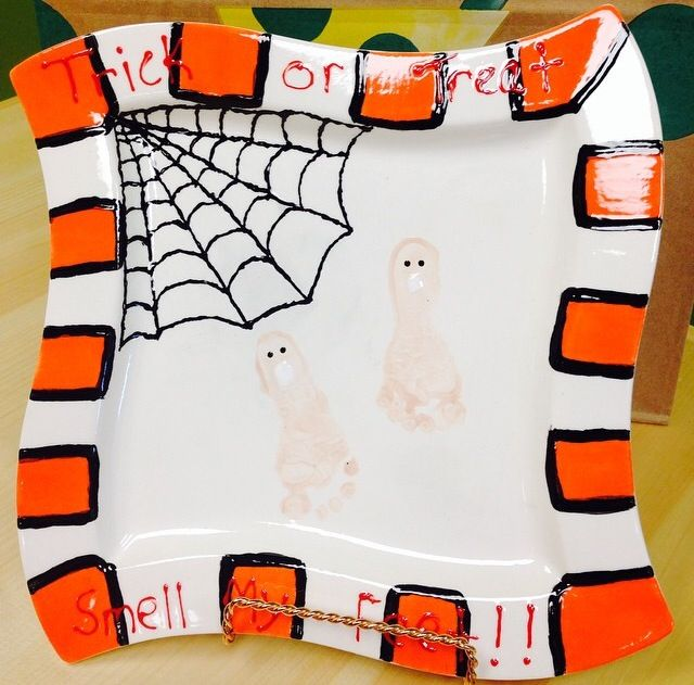 Trick Or Treat Spiderweb Plate #halloween #ceramics & Trick Or Treat Spiderweb Plate #halloween #ceramics | Halloween ...
