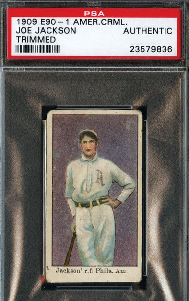 1909 Joe Jackson Rookie Card Up For Auction Vintage