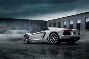 5k 2019 wallpaper Grey Lamborghini Aventador (Dengan gambar)