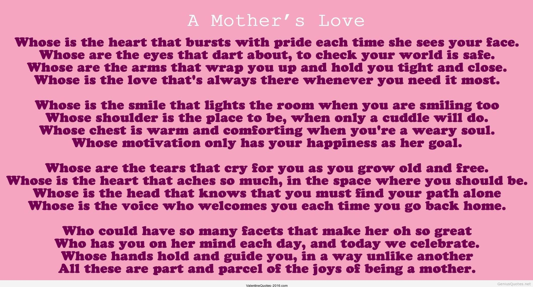 Valentines Day Quotes Mom Valentines Day