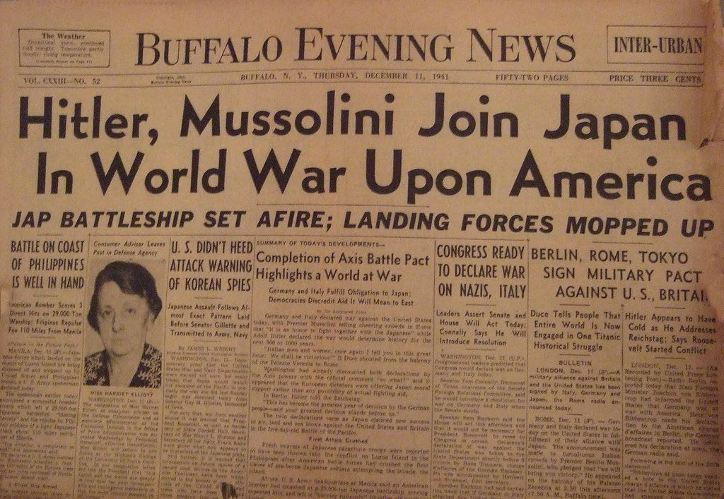 Image result for hitler declares war on the uS