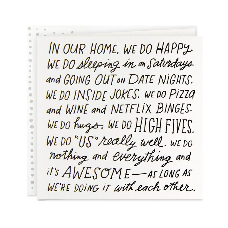 In Our Home We Do Happy Love Card Anniversary Cards For Husband Love Cards Husband Birthday Card