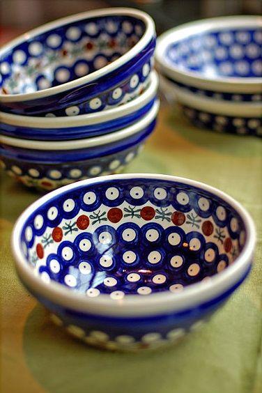 polish pottery bowls | dinnerware + tableware | Polish pottery ...