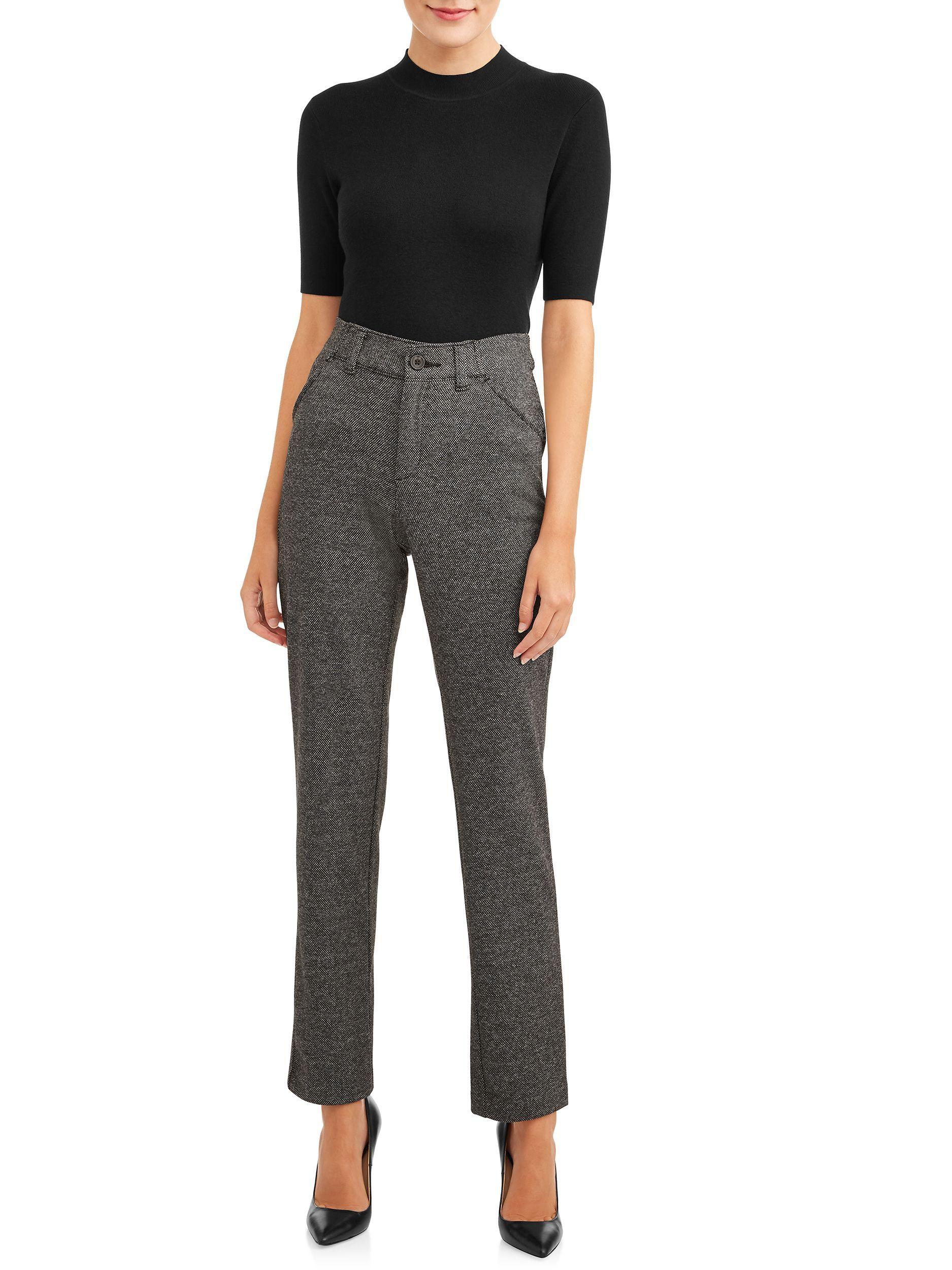 Time And Tru Time And Tru Knit Trouser Women S Walmart Com Trousers Women Pants For Women Womens Dress Pants [ 2500 x 1875 Pixel ]