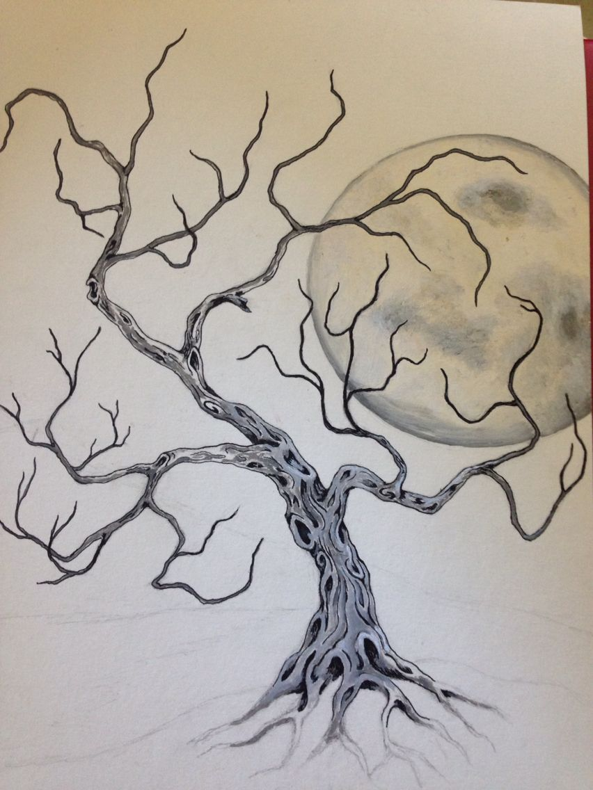 Spooky tree (unfinished) Art drawings sketches simple