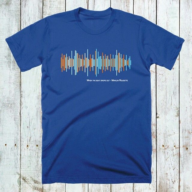 When the beat drops out, the tshirts come. A hit from Marlon Roudette. Unique shirts for unique people. Teesounds - Music you can wear @ teesounds.com