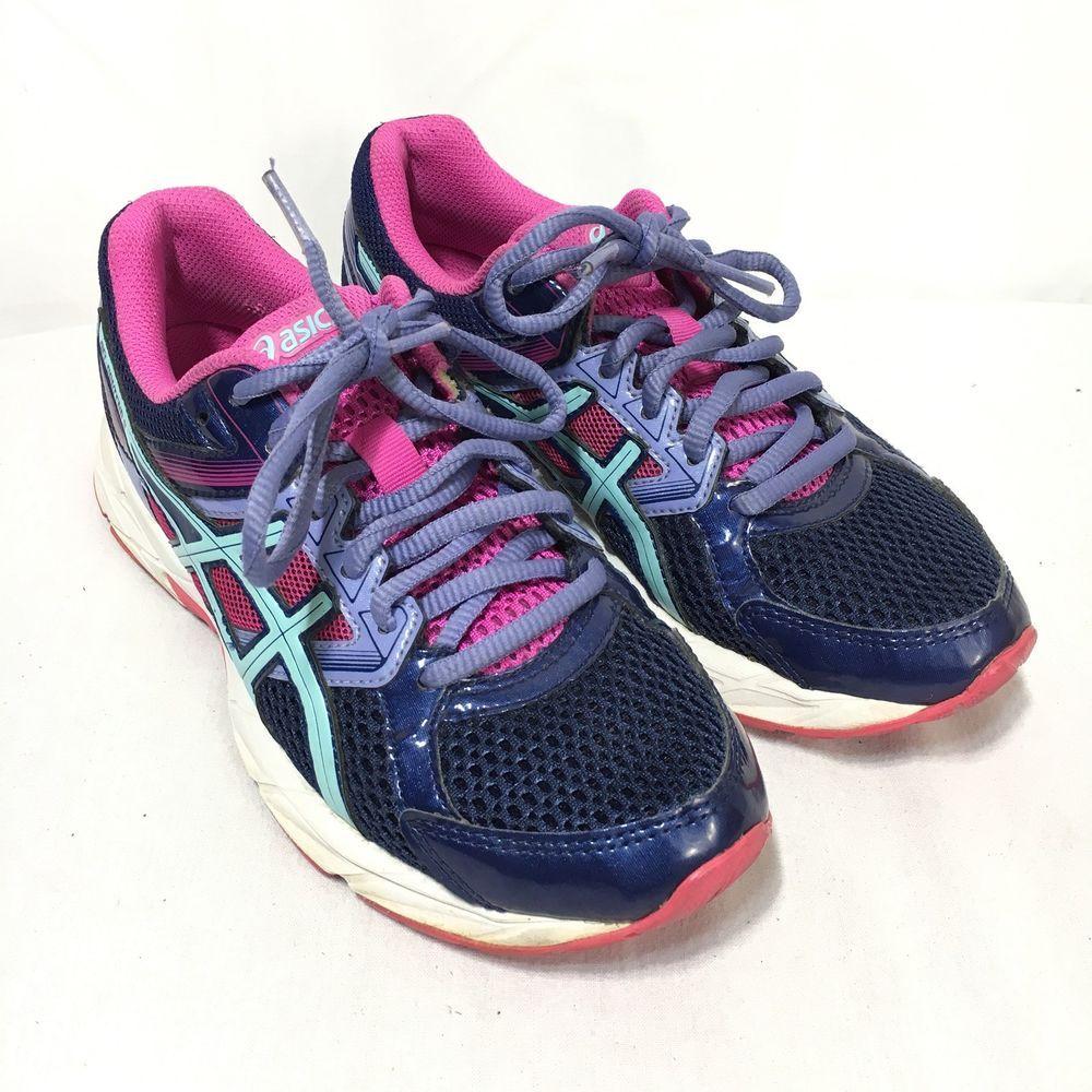 d80b3250d7bda Asics Gel Contend 3 Women s 6 Purple Blue Athletic Lace Up Running Shoes