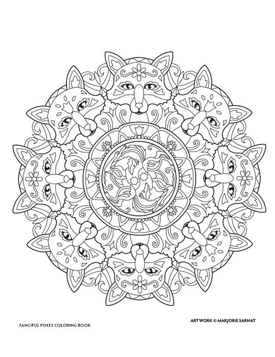 Creative Haven Fanciful Foxes Coloring Book By Marjorie Sarnat