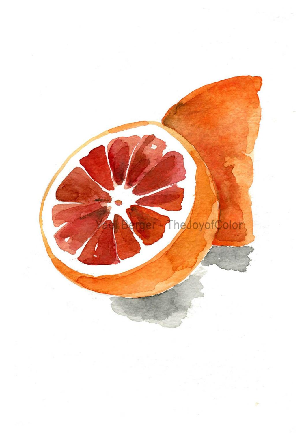 Blood Orange 2 Art Print Orange Orange Impression Peinture