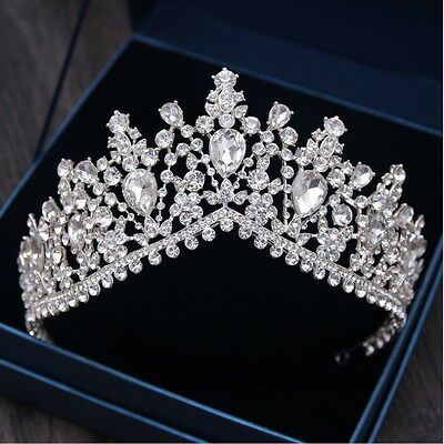 7cm High Large Adult Drip Crystal Wedding Bridal Party Pageant Prom Tiara Crown    eBay #weddingcrown