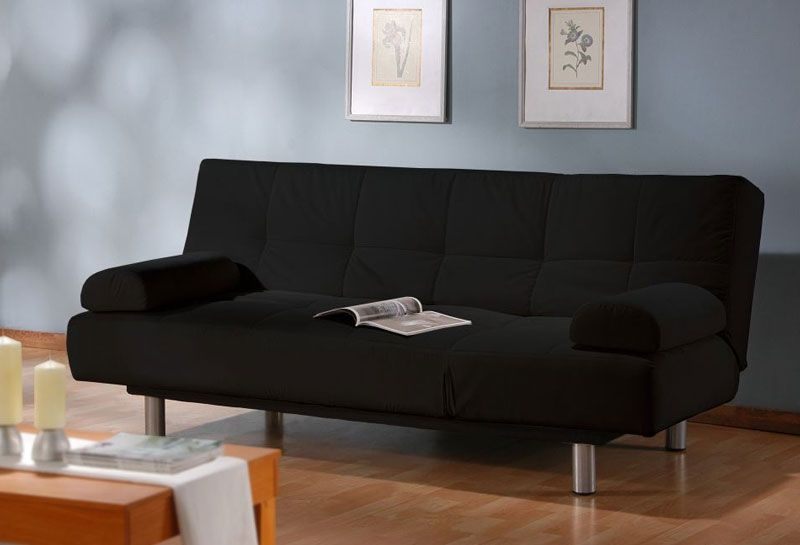 Convertible Deluxe Black Sofa Bed