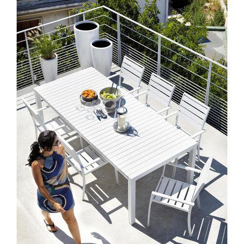 Gartentisch Aus Plastik In Holzoptik Und Aluminium B 230 Cm Weiss Portofino Portofino Gartentisch Gartensessel Weissen Garten