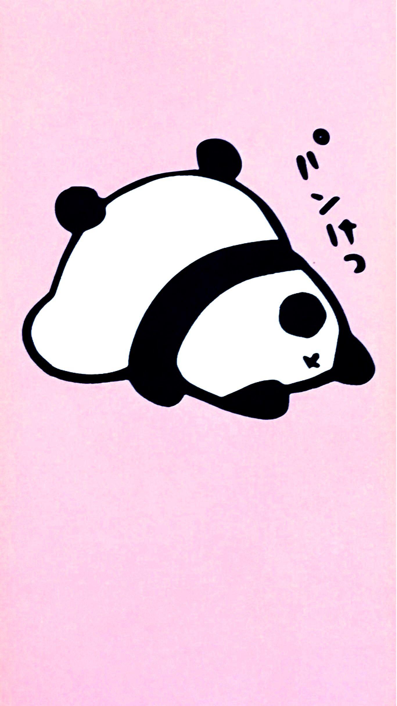 Cute Panda With Pink Background Seni Gambar Sahabat
