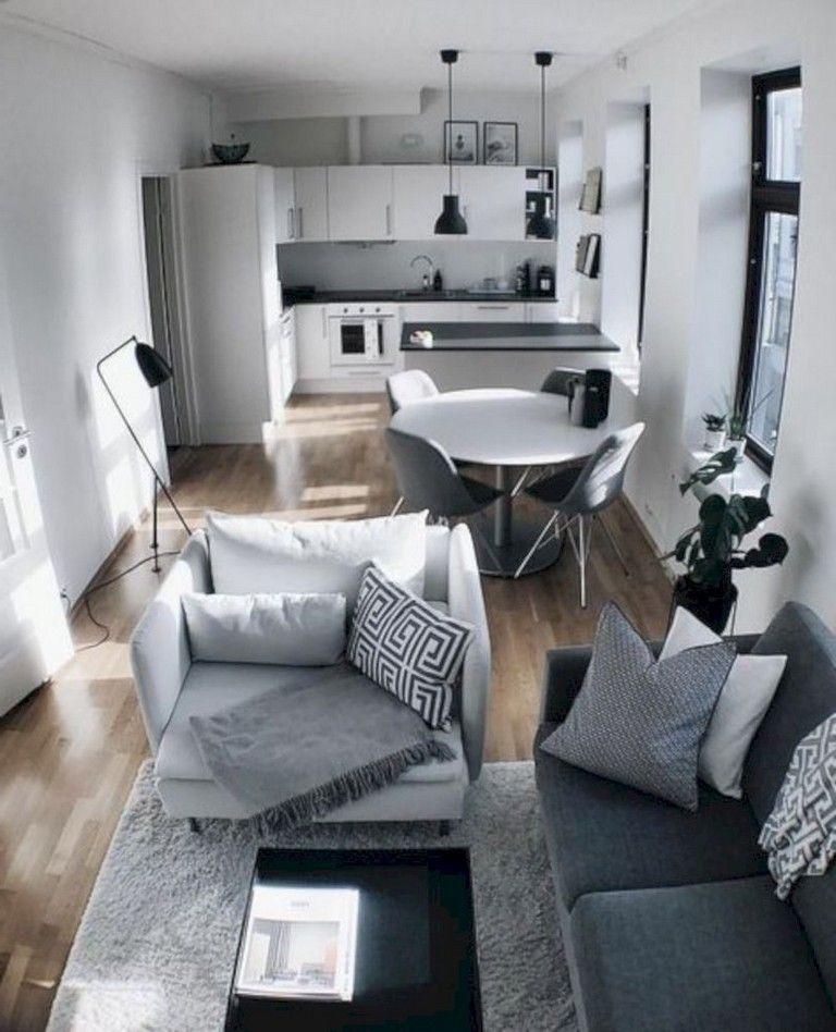 30 Elegant Small Apartment Decorating Ideas On A Budget Diy Small Apartment Living Room Decor Apartment Apartment Living Room Layout