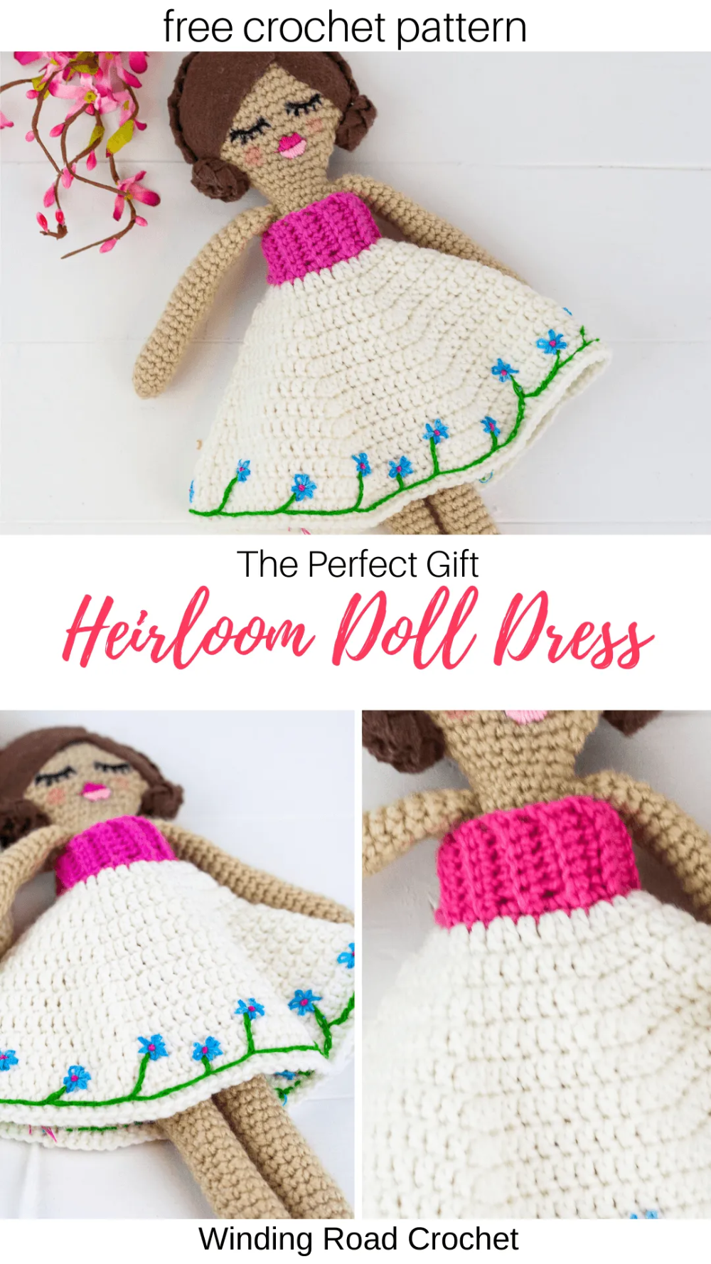 Heirloom Doll Dress Pattern #dolldresspatterns