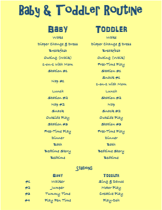 Routines for Babies and Toddlers