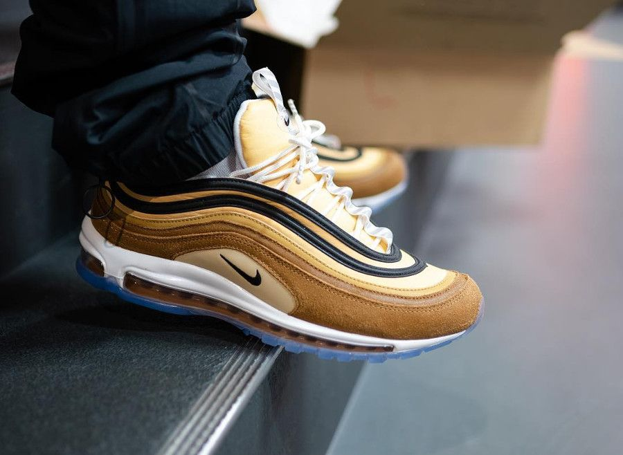 official photos f7954 32369 Nike Air Max 97 Shipping Box Barcode Ale Brown (2019)