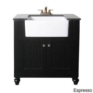 Granite Top 30inch Farmhouse Apron Style Singlesink Bathroom