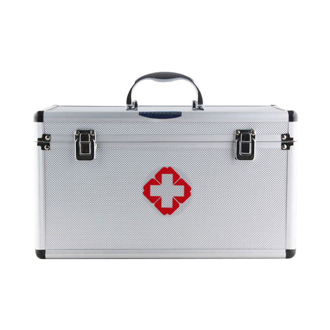 HIPSTEEN Red First Aid Emergency Medical Kit Survival Box Empty Medicine Storage  Box Multi Layered