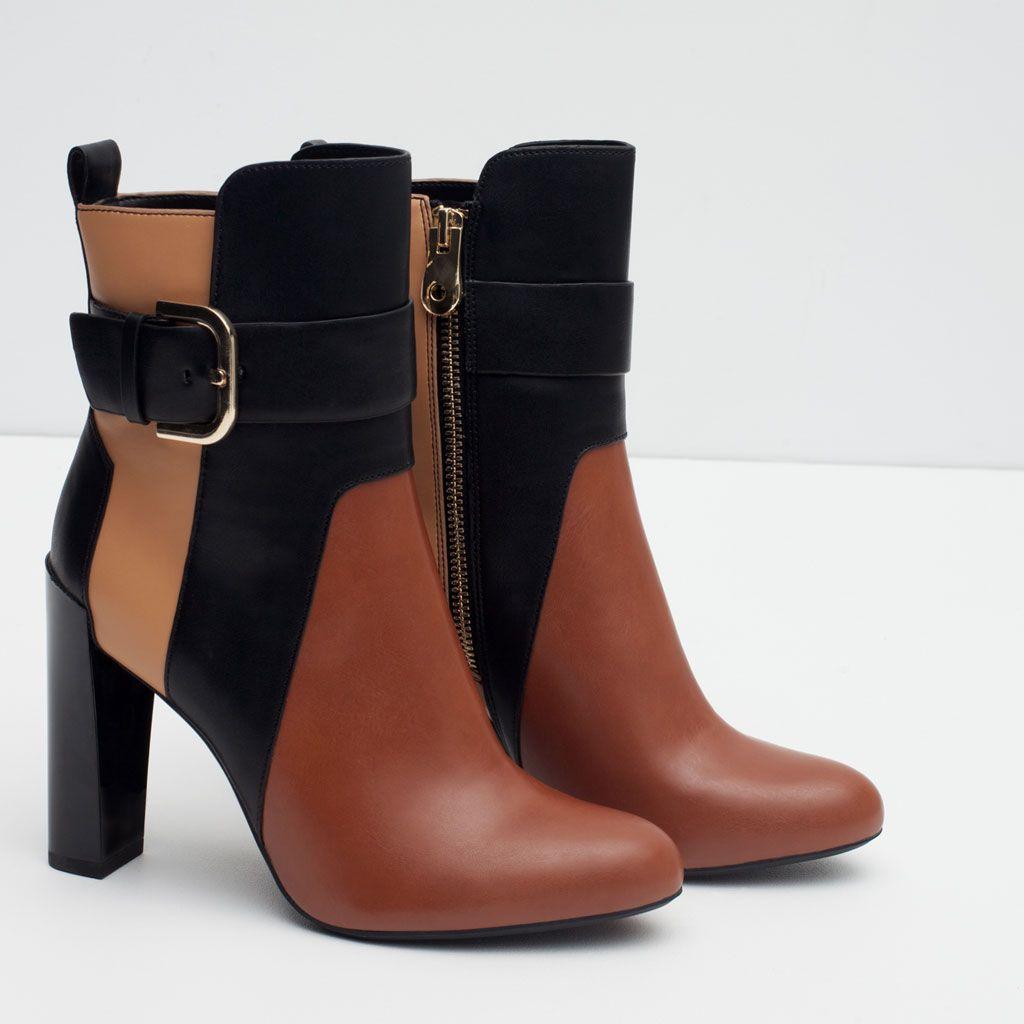 bottines tricolores-bottes et bottines-chaussures-femme | zara