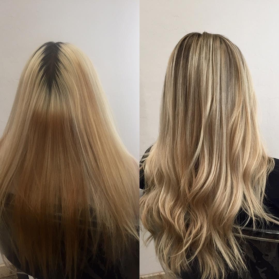 Goodbye Before Hello After Studiork Studiorksalon Rootdrag Best Hair Salon Hair Blonde Roots