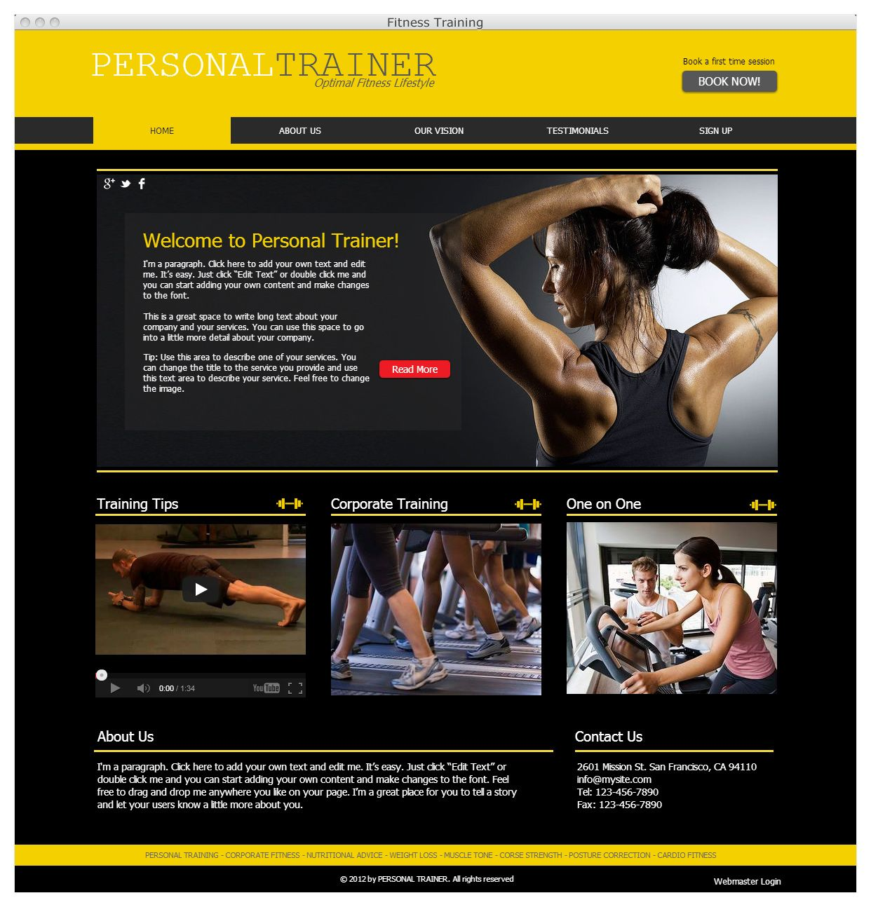 Personal trainer website ready to go Wix Website
