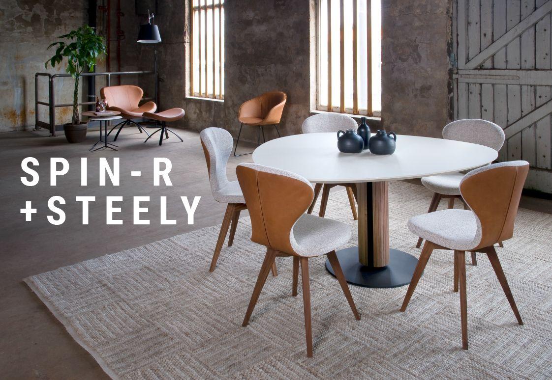 Photo of Steely eetkamertafel | Spin R eetkamerstoel | Bree's New World
