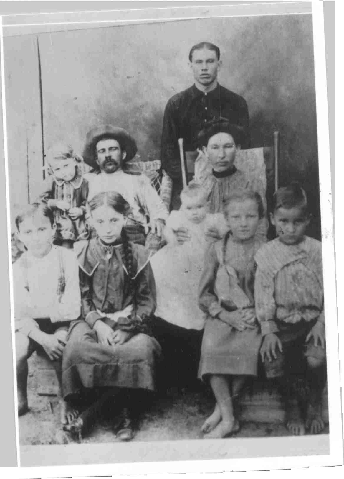 Technically Edwardian rather than Victorian. Nevertheless, it's one of my favorite old family photos, partly because it's MY family. Those are my great grandparents and their children in 1905, with a couple more to come later. My mom's dad is the bashful blonde toddler sitting on the arm of his dad's chair. As was not uncommon in that era, five of my grandfather's siblings died of various causes before age 18. However, my grandfather lived into his 80s, and two of his sisters into their 90s.