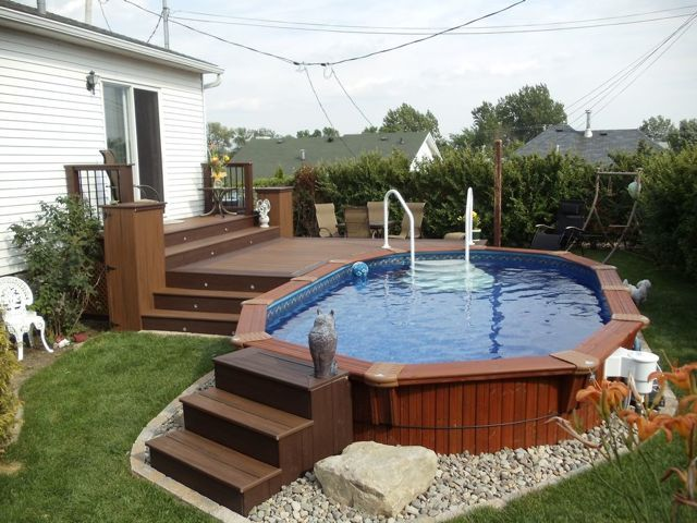 10 ways to pretty up an above ground pool ground pools backyard and decking
