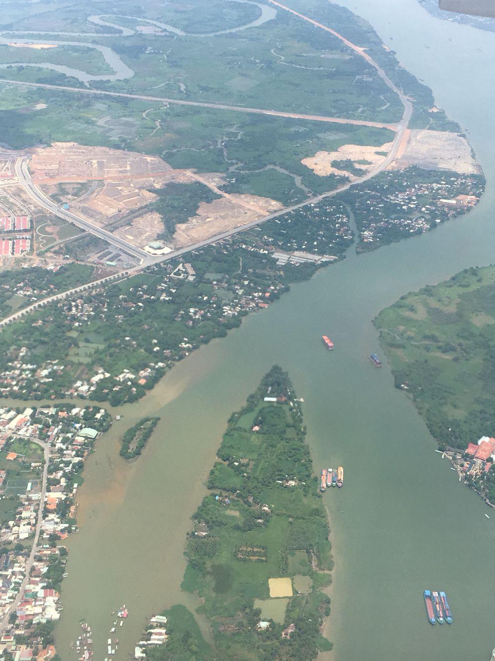 Mekong Delta from the air, Vietnam