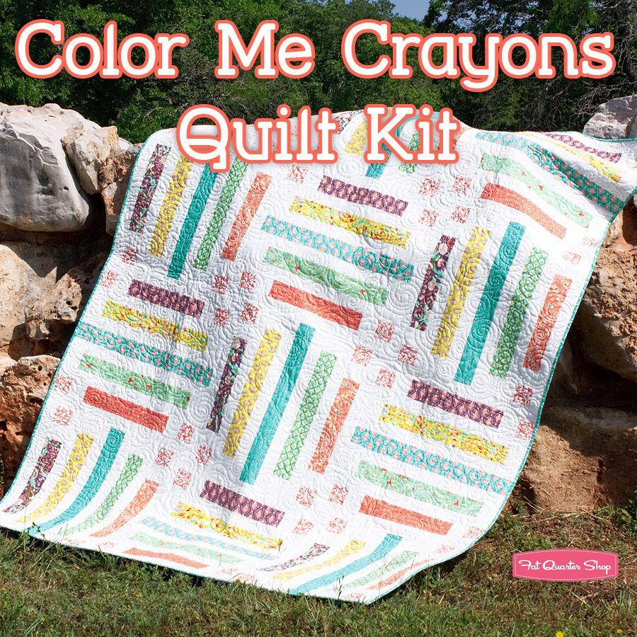 Color Me Crayons Quilt Kit Featuring Birds & Berries by Lauren & Jessi Jung - Fat Quarter Shop