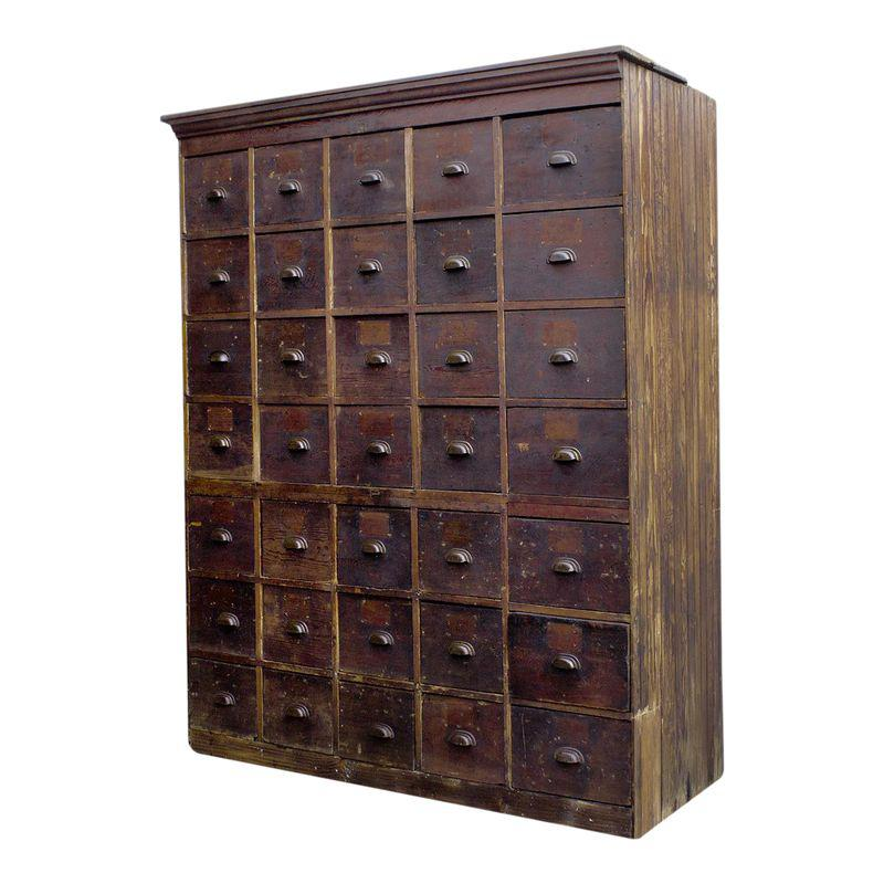 1890s Large Antique Multi Drawer Storage Cabinet Products
