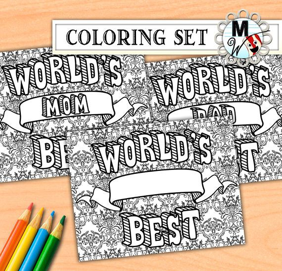 World S Best Mom Dad Boss Brother Sister Blank Etsy Blank Coloring Pages Coloring Pages Okayest Mom