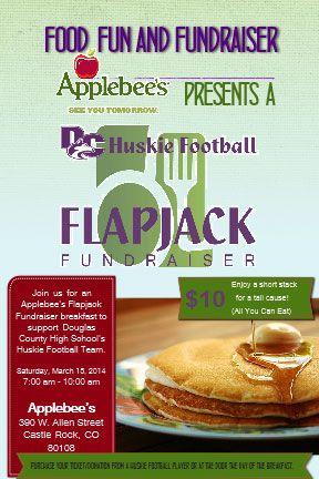 Applebee S And Dc Huskie Football Flapjack Fundraiser March 2013 Food Good Food Fundraising