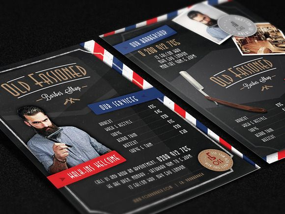 3 Barber Shop Flyer Templates | Shops, Creative and Flyer template