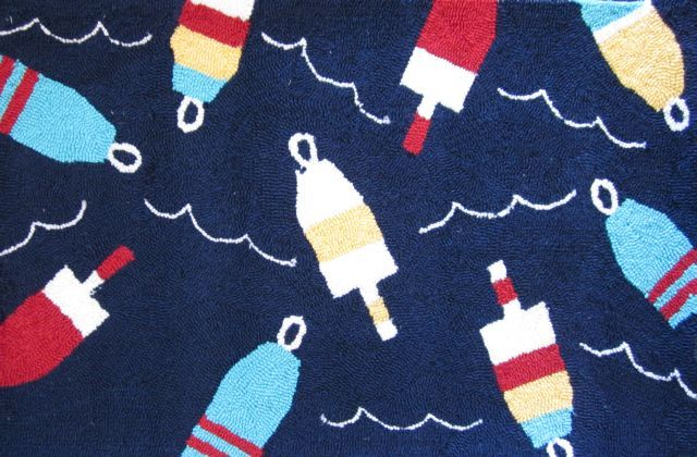 Nautical Rug Navy Buoys Adds Some Color Guest Bedroom