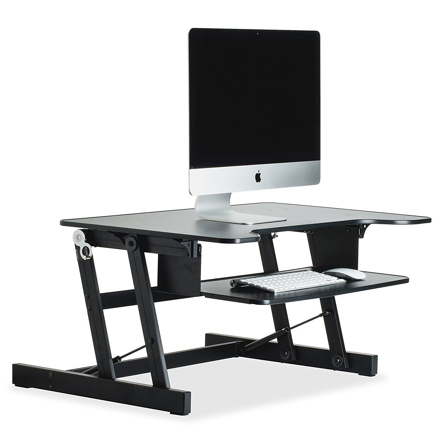Amazon Com Lorell Sit To Stand Monitor Riser Black
