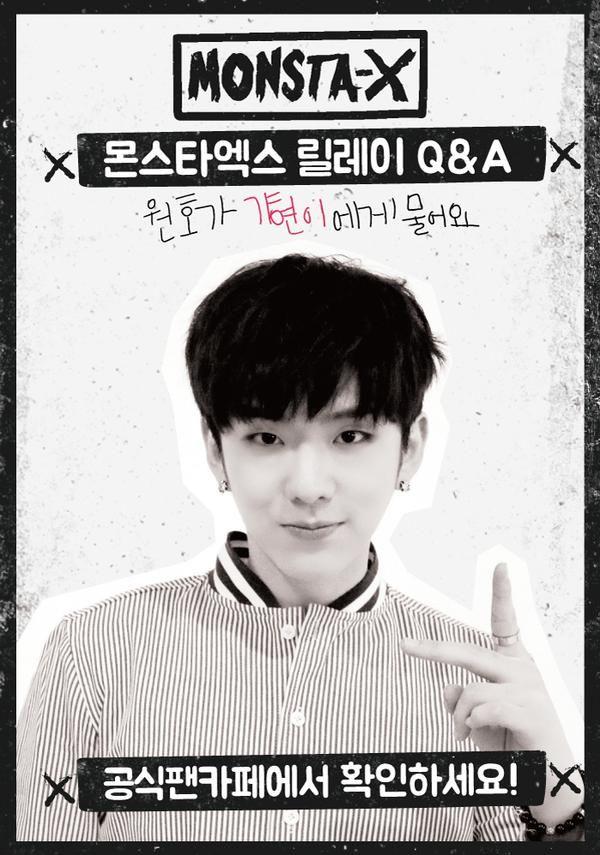 [#Monsta_X] #몬스타엑스 Relay Q&A! the third heroine is??!! #기현!!!! #원호 If you…