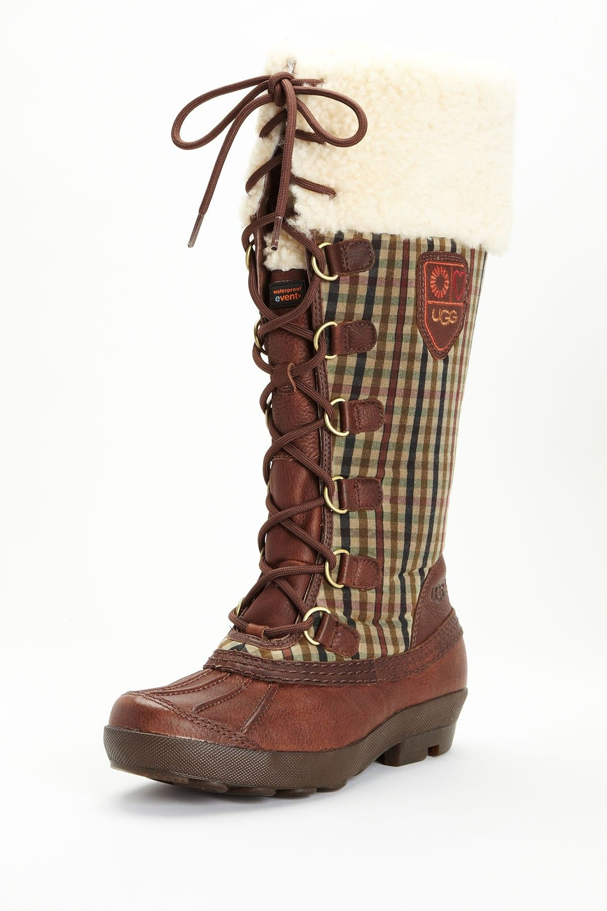 These Like Australia Edmonton Ugg Boot Fashion Up I Gingham Lace v6WgBnqqp