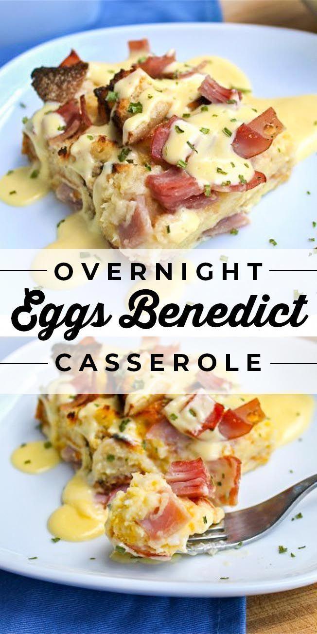 Photo of Eggs Benedict Casserole (Overnight Breakfast Casserole) #eas…