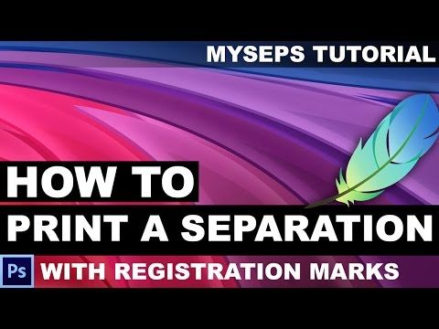 844b5d7b2 How to print a color separation in Photoshop channels to Accurip with  registration marks - YouTube