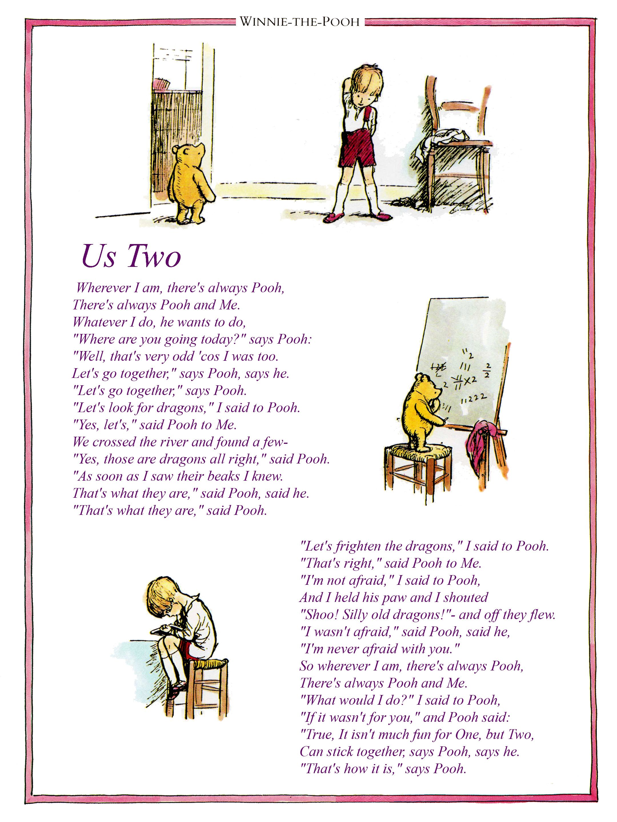 Us Two Poem Print You Can Purchase A Wide Range Of Good Quality Clic Winnie