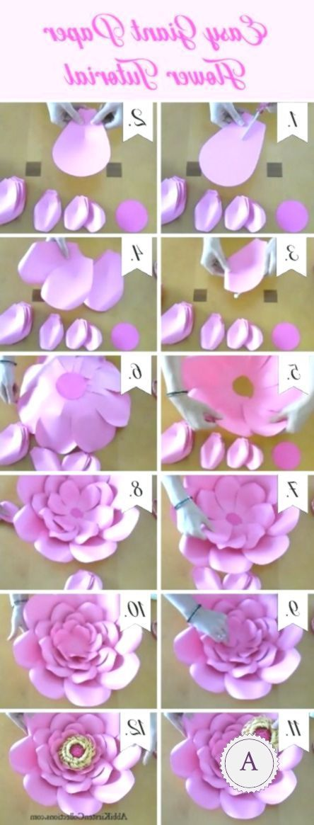 How To Make Big Paper Flowers Easy Diy Giant Paper Flower