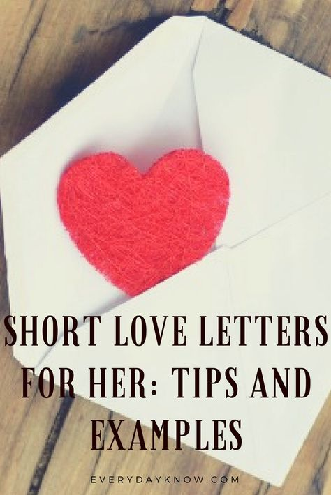short love letters for her tips and examples