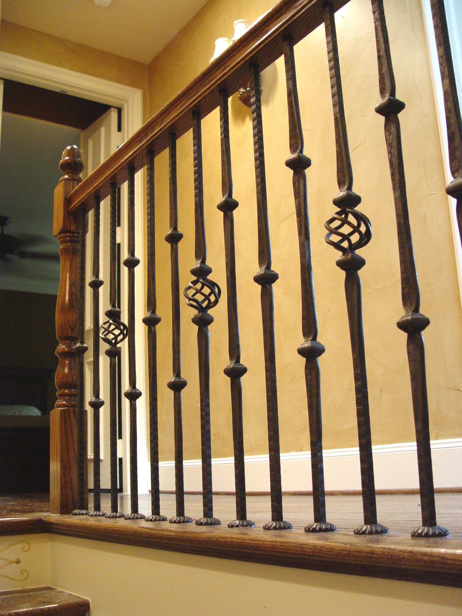 Iron Balusters Patterns Stair Railing Design Wrought Iron