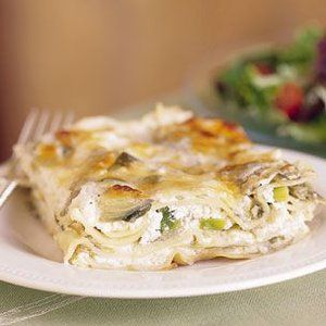 Artichoke and leek lasagna in recipes on the food channel food artichoke and leek lasagna in recipes on the food channel forumfinder Image collections