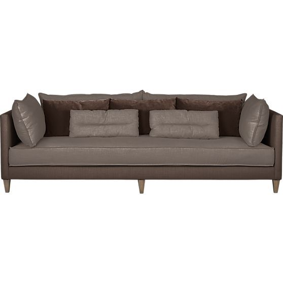 Asana Sofa In Sofas Crate And Barrel Family Room Couch Sofa