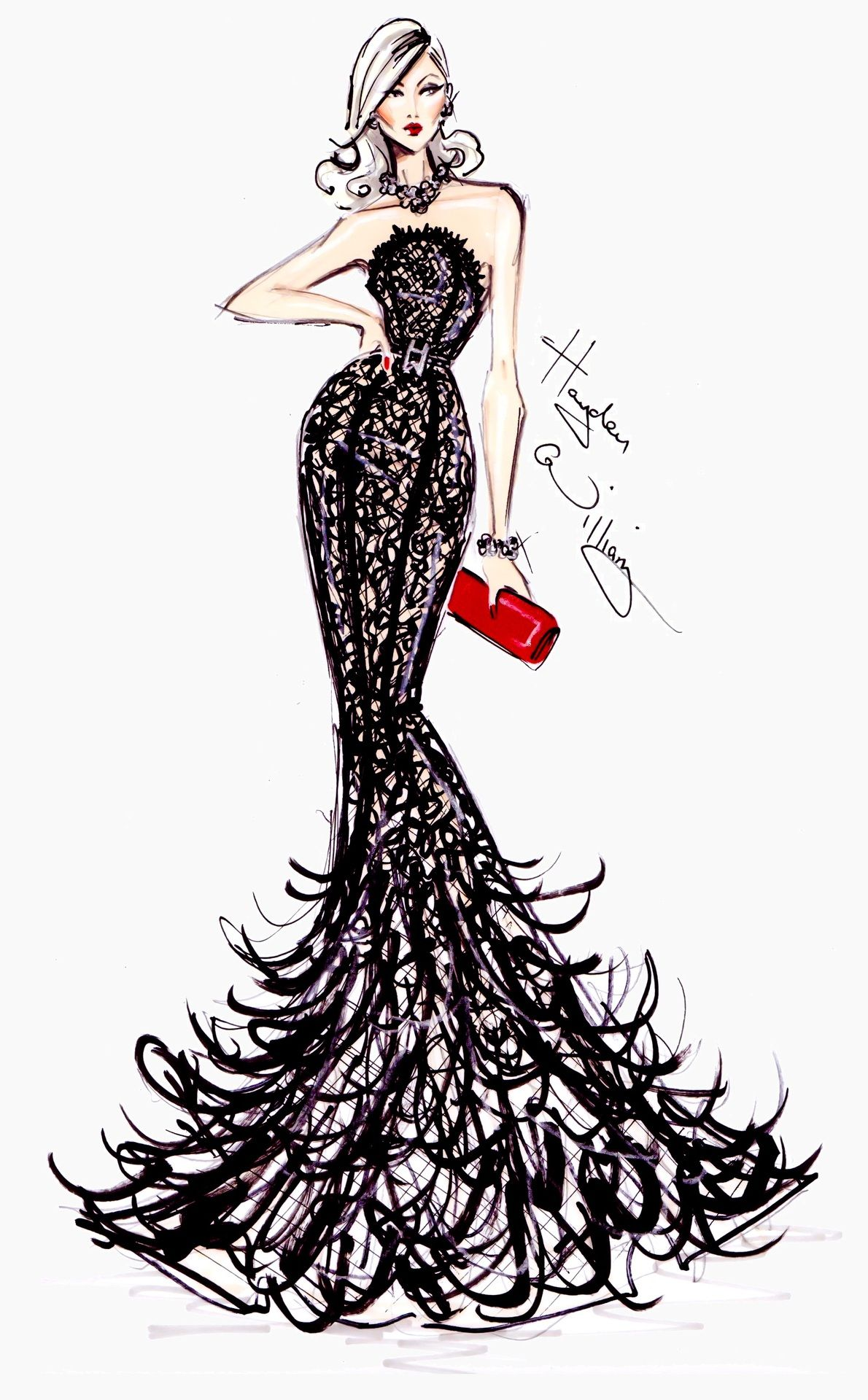 Hayden Williams Fashion Illustrations: Golden Globe Couture by Hayden Williams